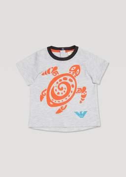 Armani Junior T-Shirt With Tortoise Print
