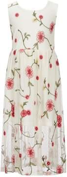 Bonnie Jean Little Girls 4-6X Floral-Embroidered Maxi Dress