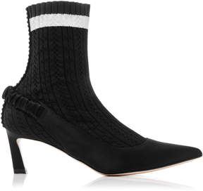 Stuart Weitzman Sockette Stretch Knit Ankle Boots