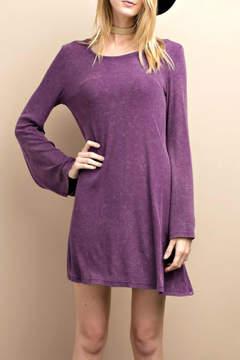 Easel Purple Bell Dress
