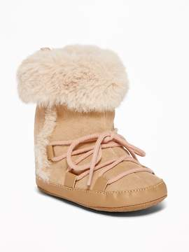 Old Navy Sueded Faux-Fur Cuff Adoraboots for Baby