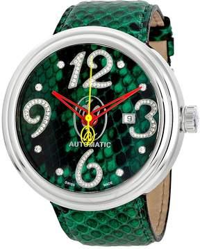Jacob & co Valentin Yudashkin Green Python Automatic Diamond Men's Watch