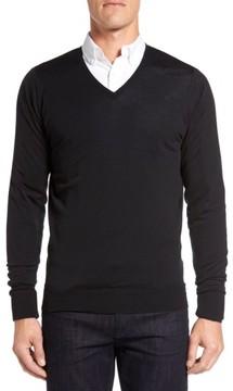 John Smedley Men's 'Bobby' Easy Fit V Neck Wool Sweater