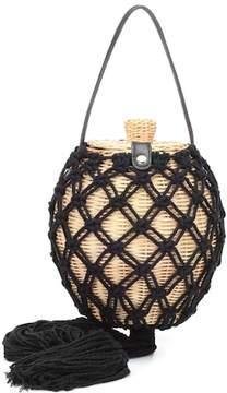 Ulla Johnson Leia wicker shoulder bag