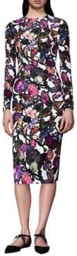Cynthia Rowley Floral Midi Sheath Dress