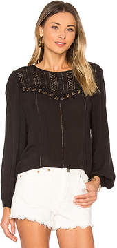 Amuse Society Sunset Rose Woven Top