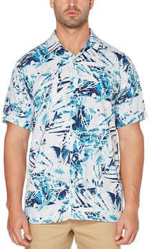 Cubavera Short Sleeve Pattern Button-Front Shirt