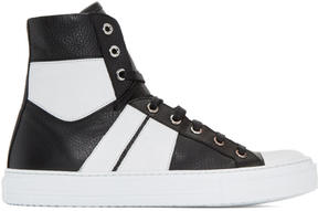 Amiri Black and White Sunset High-Top Sneakers