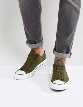 Converse Chuck Taylor All Star Ox Sneakers In Green 157266C