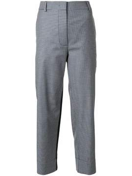Cédric Charlier micro checked cropped pants