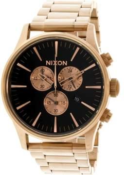 Nixon Men's Sentry Chrono A3861932 Gold Stainless-Steel Japanese Quartz Fashion Watch