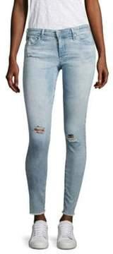 AG Jeans Distressed Frayed Hem Legging Ankle Jeans