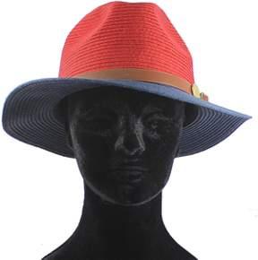 La Fiorentina Straw Hat With Leather Strap.