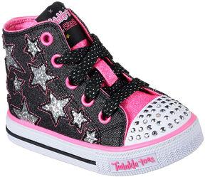 Skechers Twinkle Toes Shuffles Rock Girls Sneakers - Toddler