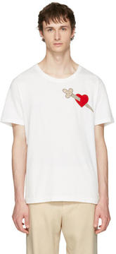 Gucci White Pierced Heart T-Shirt