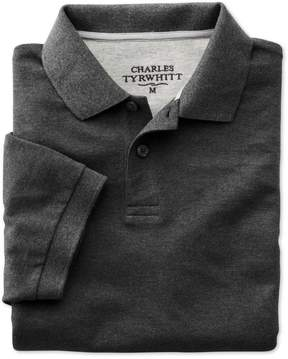 Charles Tyrwhitt Charcoal Pique Cotton Polo Size XL