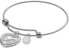 Disney Disney's Mickey & Minnie Mouse Crystal Floating Charm Bangle Bracelet