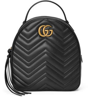 Gucci GG Marmont quilted leather backpack - BLACK QUILTED LEATHER - STYLE