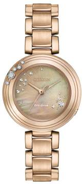 Citizen L Carina EM0463-51Y Brown/Rose Gold Eco-Drive Women's Watch