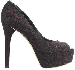 Brian Atwood Bambola Peep Toe in Fuchsia Sparkle Leather