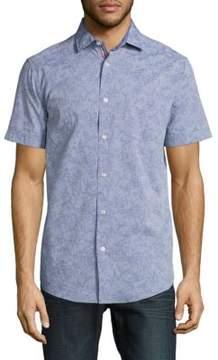 Report Collection Floral-Print Cotton Shirt