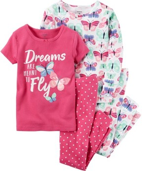 Carter's Baby Girls 4-pc. Dreams Pajama Set