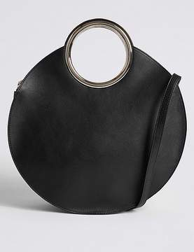 Marks and Spencer Faux Leather Circle Handle Cross Body Bag