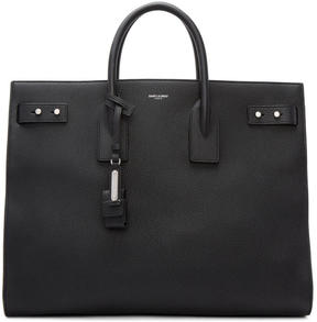 Saint Laurent Black Large Sac De Jour Tote