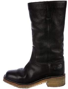 Frye Leather Round-Toe Boots