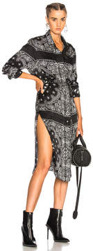 Amiri Long Bandana Button Down Dress