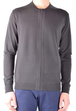 Hosio Men's Grey Wool Sweatshirt.