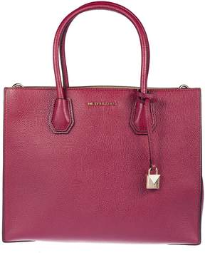 Michael Kors Mercer Large Grained Tote Bag - MULBERRY - STYLE