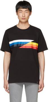 Rag & Bone Black Glitch Stripe T-Shirt