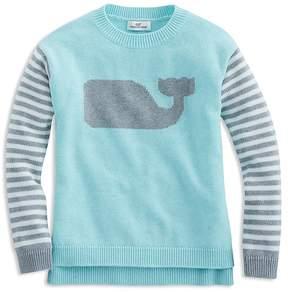 Vineyard Vines Girls' Striped Whale Sweater - Little Kid