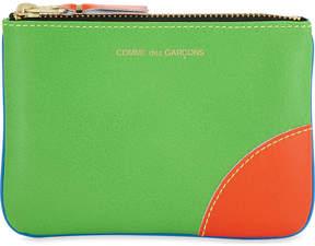 Comme des Garcons Super fluorescent small leather pouch