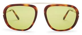 Tom Ford Johnson Modified 57mm Aviator Sunglasses