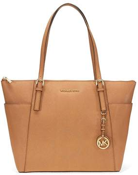 Michael Kors Large Jet Set Saffiano Leather Tote - Acorn - ONE COLOR - STYLE