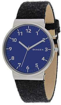 Skagen Ancher Collection SKW6232 Men's Leather Strap Watch