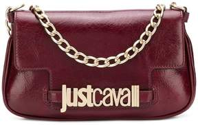 Just Cavalli logo plaque clutch bag