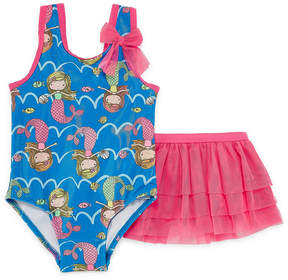 Asstd National Brand Girls One Piece+Cover-Ups-Toddler