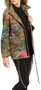 Chelsea & Violet C&V Floral Print Camo Jacket