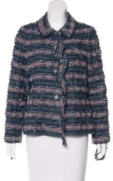 Chanel Fringe-Trimmed Bouclé Jacket