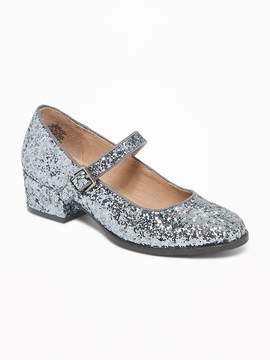 Old Navy Glitter Ankle-Strap Shoes for Girls