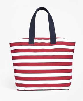 Brooks Brothers Stripe Canvas Tote Bag
