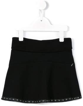 Diesel eyelet hem mini skirt