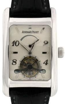 Audemars Piguet Eduard Piguet Power Reserve 18K White Gold Tourbillon 49mm Mens Watch