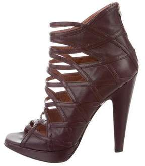 Alaia Leather Caged Booties