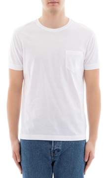 Orian Men's White Cotton T-shirt.