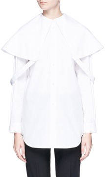 Aalto Attached collar poplin shirt