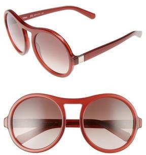 Chloé Women's Marlow 57Mm Round Sunglasses - Burnt